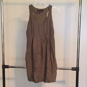 Simple Scoop Neck Sleeveless Dress